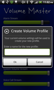 Volume Master - Create Profile
